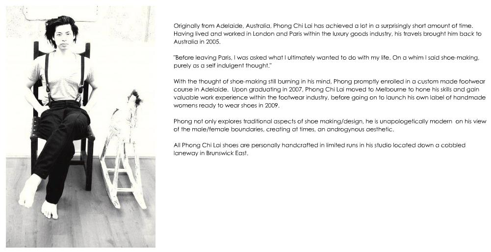 Phong Chi Lai, now in his 4th collection of handmade womens shoes
